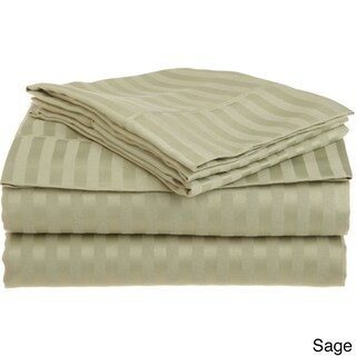 Superior Wrinkle Resistant Stripe Microfiber Deep Pocket Sheet Set (More options available)
