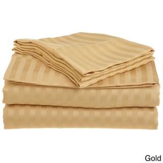 Superior Wrinkle-resistant Microfiber Stripe Sheet Set