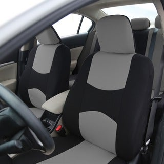FH Group Gray Fabric Universal Fit Front Bucket Seat Covers