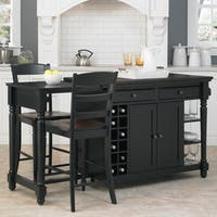 Gracewood Hollow Remarqu Kitchen Island and 2 Stools