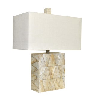 Silver Pearl Rectangular Table Lamp
