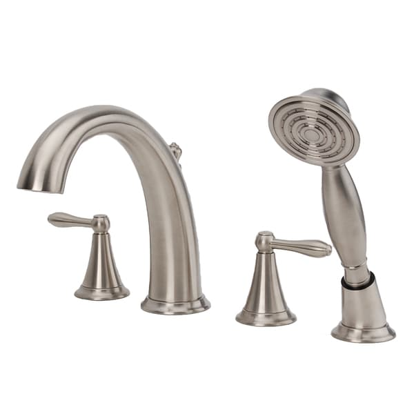 Fontaine Montbeliard Brushed Nickel Roman Tub Faucet with Handheld Shower