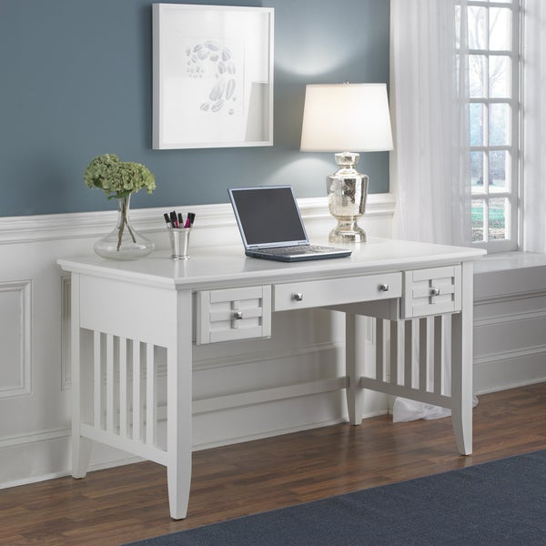 Arts and Crafts White Executive Desk