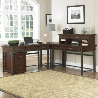 l shaped home office desk. simple shaped home styles cabin creek chestnut corner u0027lu0027 desk with hutch and mobile file inside l shaped office a