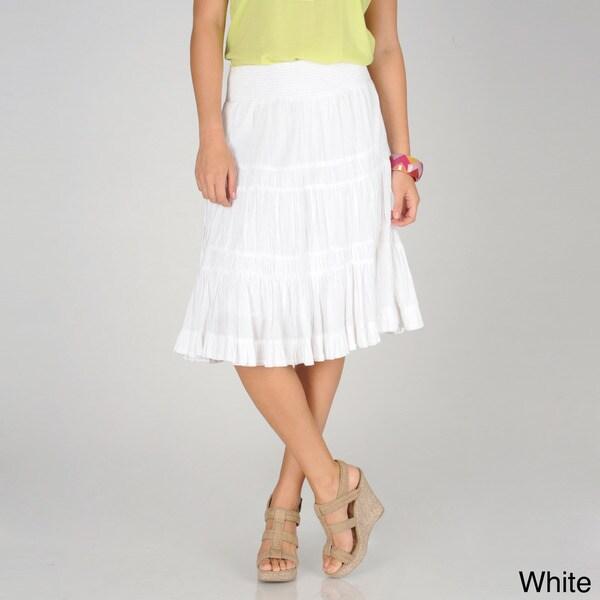 Grace Elements Women's Ruffle Trim Peasant Skirt