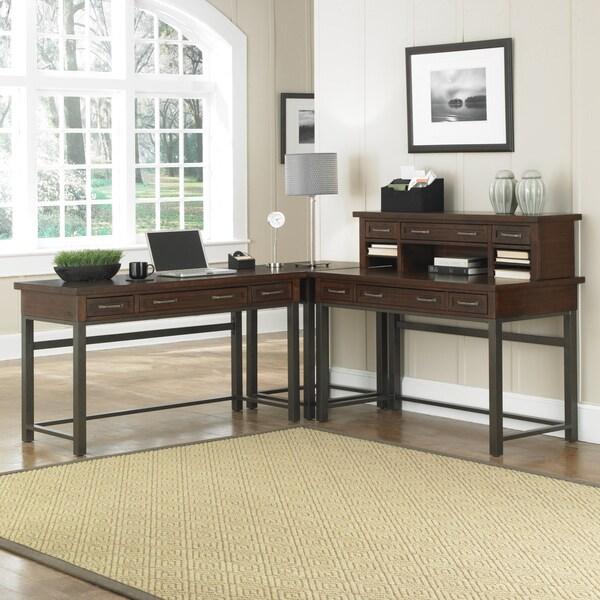 Cabin Creek Corner L Desk By Home Styles Free Shipping