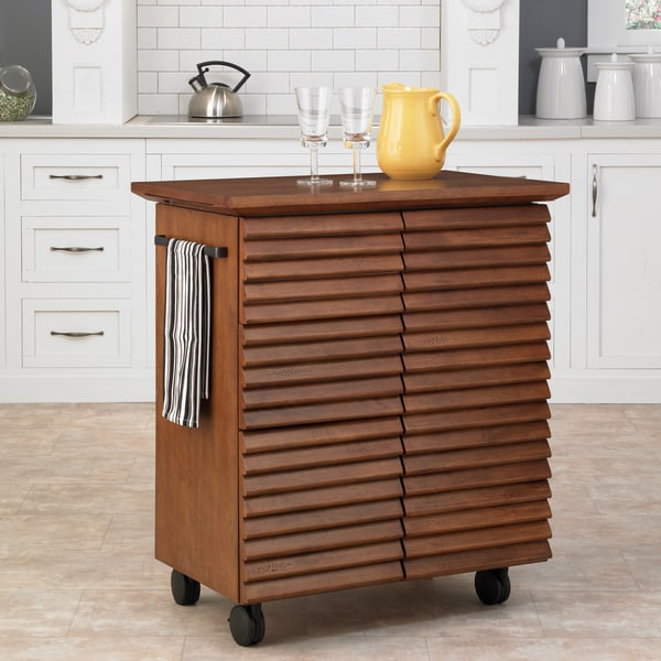 Cascade Louvred Kitchen Cart by Home Styles