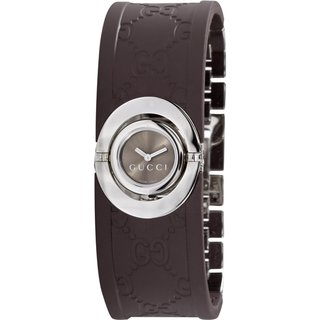 Gucci Women's Series 112 Ladies Twirl Rubber Bangle Style Watch