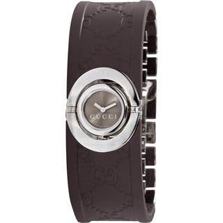 Gucci Women's Series 112 Ladies Twirl Rubber Bangle Style Watch|https://ak1.ostkcdn.com/images/products/7706285/P15113245.jpg?impolicy=medium