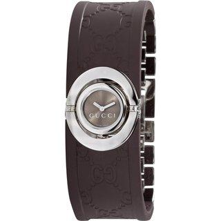 Gucci Women's Series 112 Ladies Twirl Rubber Bangle Style Watch