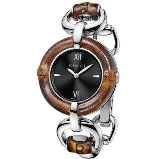 Gucci Women's Bamboo Black Sun-Brushed Dial Watch