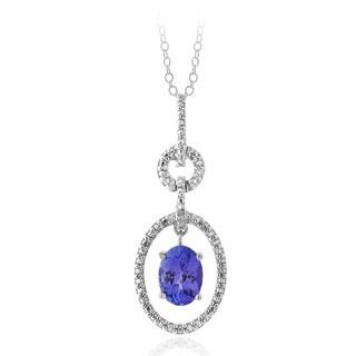 Glitzy Rocks Glitzy Rocks Sterling Silver Tanzanite and Diamond Accent Necklace