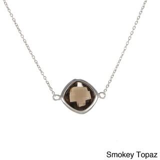 La Preciosa Sterling Silver Gemstone Necklace (Option: Topaz - Champagne - N/A)