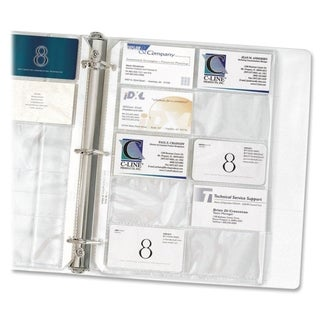 C-Line Clear Business Card Binder Pages (Pack of 10)