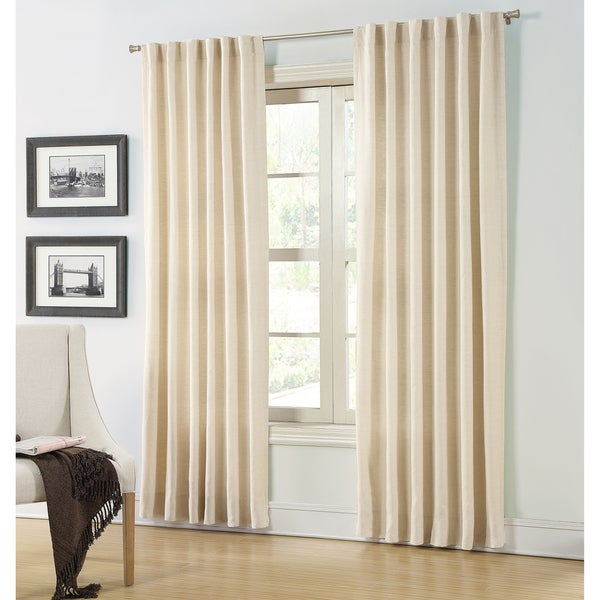 Lined Linen Drapes: Hampshire Station Lined Natural Linen 88-inch Luxury