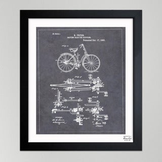 Oliver Gal 'Fryer, Driving Gear for Bicycle, 1893' Framed Paper Wall Art
