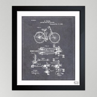 Oliver Gal 'Fryer, Driving Gear for Bicycle, 1893' Framed Paper Wall Art - Grey