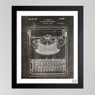 Oliver Gal 'Brandt, Type Bak Guide For Typewriters, 1926' Framed Art Print