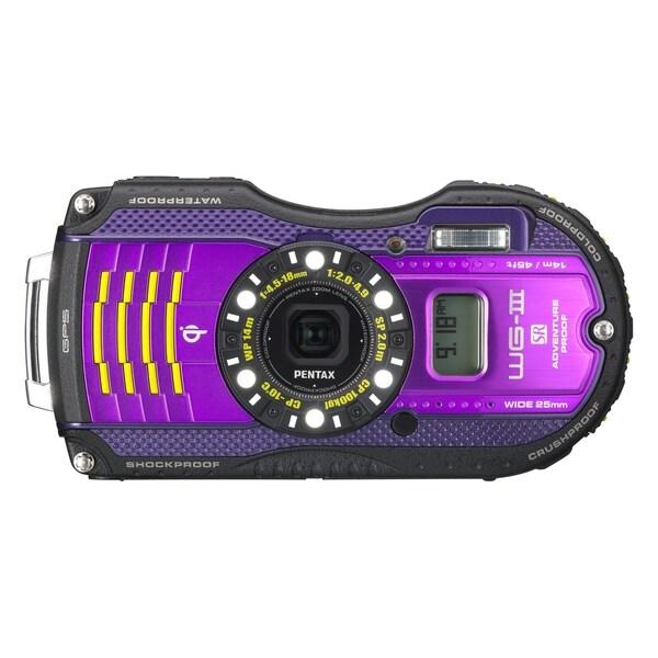 Pentax WG-3 GPS 16 Megapixel Compact Camera - Purple