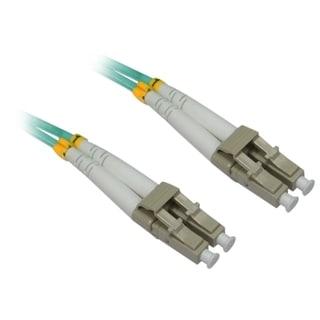4XEM 4M AQUA Multimode LC To LC 50/125 Duplex Fiber Optic Patch Cable
