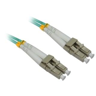 4XEM 20M AQUA Multimode LC To LC 50/125 Duplex Fiber Optic Patch Cabl