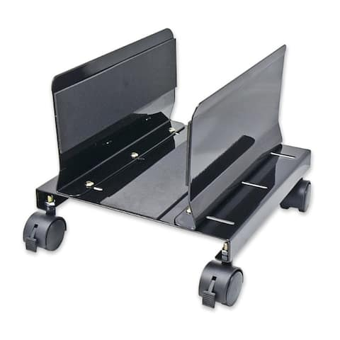 SYBA Multimedia Steel PC Stand for ATX Case with Adj. Width and 4 Caster wheels