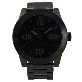 Nixon Men's 'Corporal SS' Black Stainless Steel Analog Watch