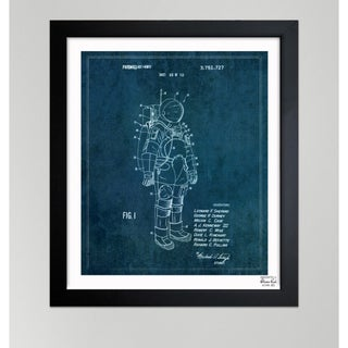 Oliver Gal 'Space Suit II, 1973' Framed Paper Wall Art - Blue