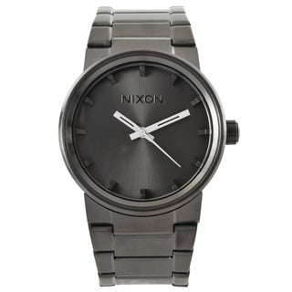 Nixon Men's 'Cannon' Stainless Steel Gunmetal Analog Watch