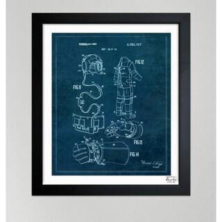 Oliver Gal 'Space Suit I, 1973' Framed Paper Blueprint