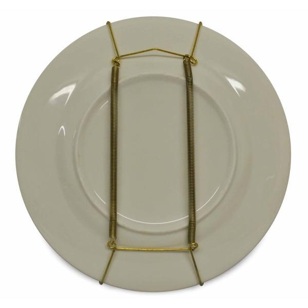 Light Gold Brass Plate Hangers (Set of 12)