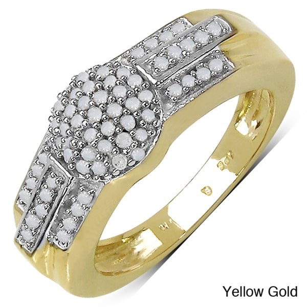 Malaika 14k Gold over Sterling Silver 1/3ct TDW Diamond Ring (I-J, I3)