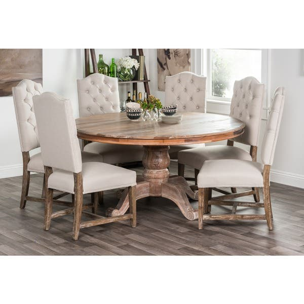Shop Hamshire Reclaimed Wood 60-inch Round Dining Table by ...