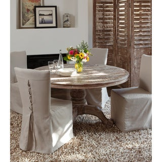 hamshire reclaimed wood 60inch round dining table by kosas home