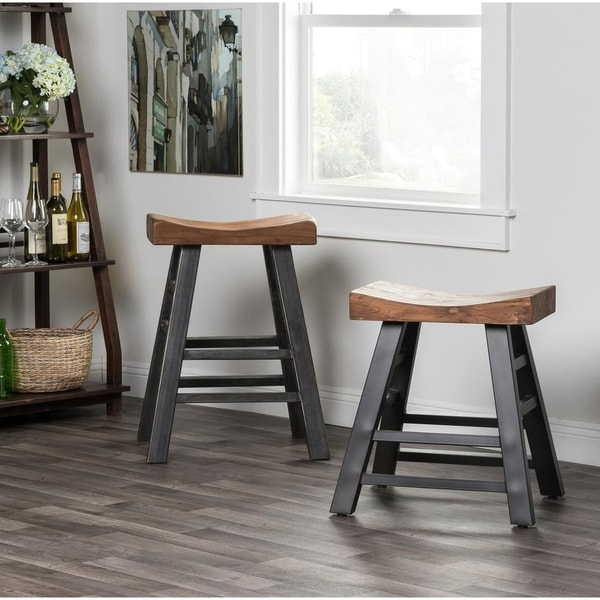 Myrna Reclaimed Pine 24-inch Counter Stool by Kosas Home