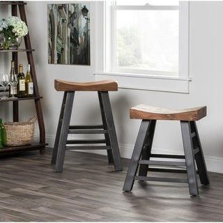 Myrna Reclaimed Pine 24-inch Counter Stool by Kosas Home - 24h x 22w x 18d