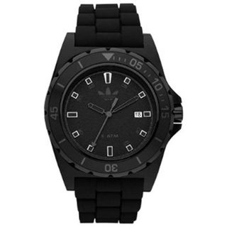 Adidas Men's Stockholm ADH2669 Black Rubber Black Dial Quartz Watch