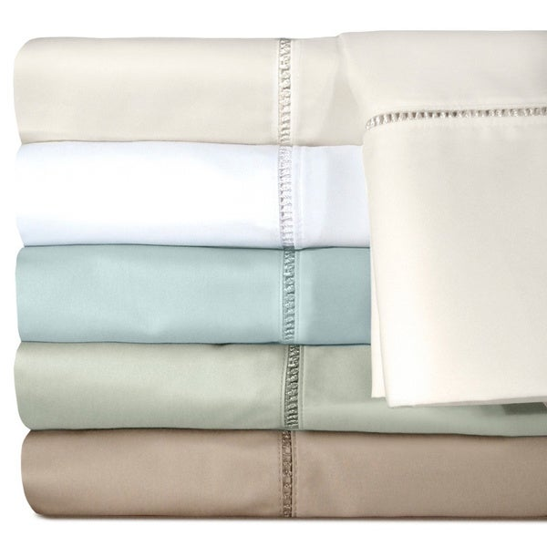 Grand Luxe Linford 500 Thread Count Egyptian Cotton Deep Pocket Sheet Separates