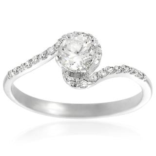 Journee Collection Sterling Silver Cubic Zirconia Bridal Ring