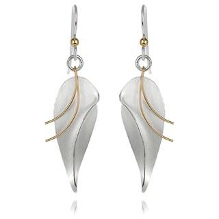Journee Collection Sterling Silver Leaf Dangle Earrings