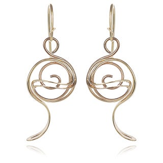 Journee Collection Goldfill Spiral Dangle Earrings