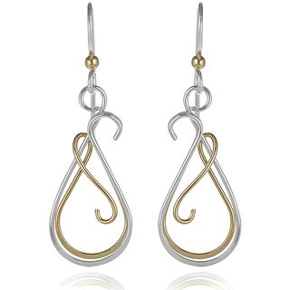 Journee Collection Swirl Dangle Earrings