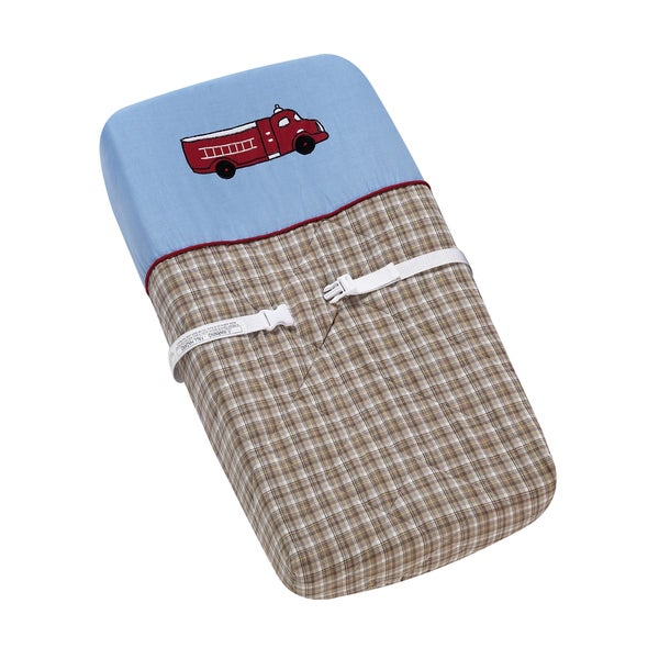 Sweet JoJo Designs Frankie's Firetruck Changing Pad Cover