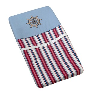 Sweet JoJo Designs Nautical Nights Sailboat Changing Pad Cover