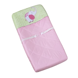 Sweet JoJo Designs Pink and Green Jungle Friends Changing Pad Cover