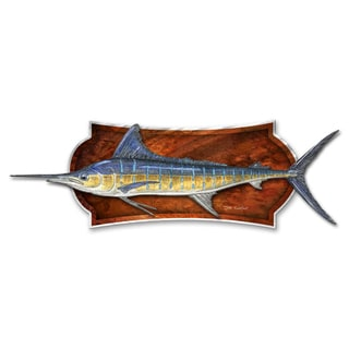 Jeff Currier 'Mounted Striped Marlin' Metal Art