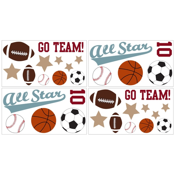Sweet JoJo Designs All Star Sports Wall Decal Stickers