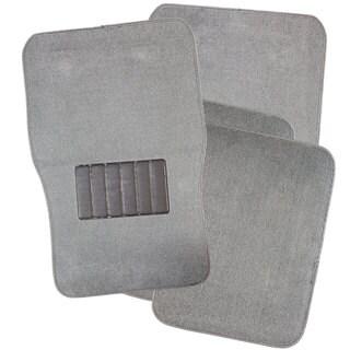 Oxgord Light Grey Four-piece Floor Mat Carpet Rugs