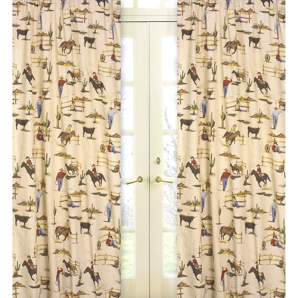Sweet Jojo Designs Brown, Red, Cream, Blue, Green and Gold 84-inch ...