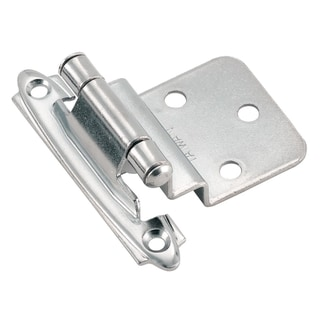 Amerock Polished Chrome 0.375-inch Offset Face Mount Self Closing Hinges (Pack of 10)